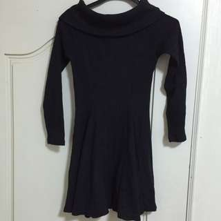 厚針織平口連身裙