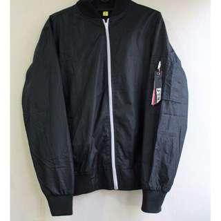 Ludger Black Bomber Jacket