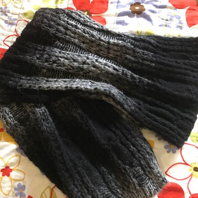 黑色漸層圍巾