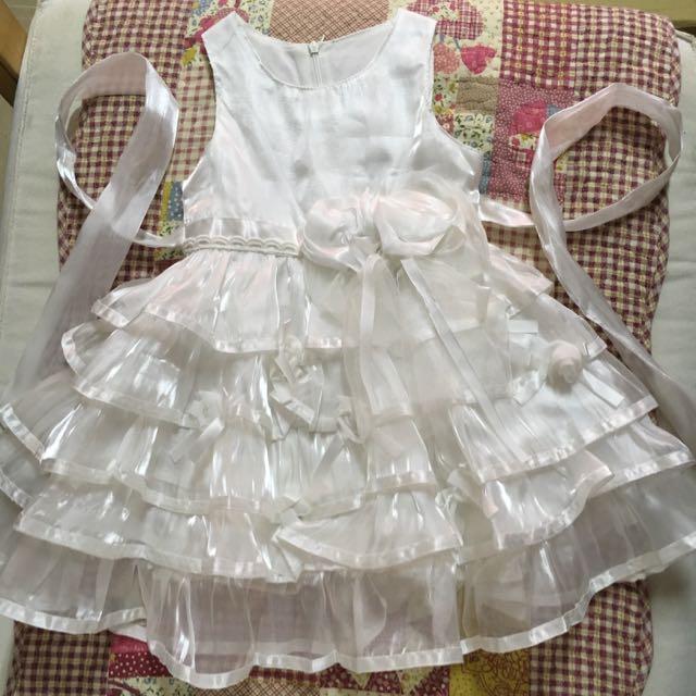 小女童白紗禮服(近全新)