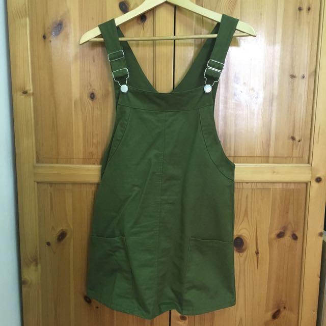墨綠色 吊帶裙