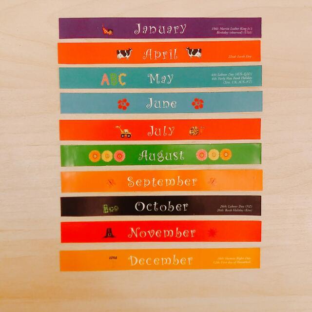 月曆 貼紙條