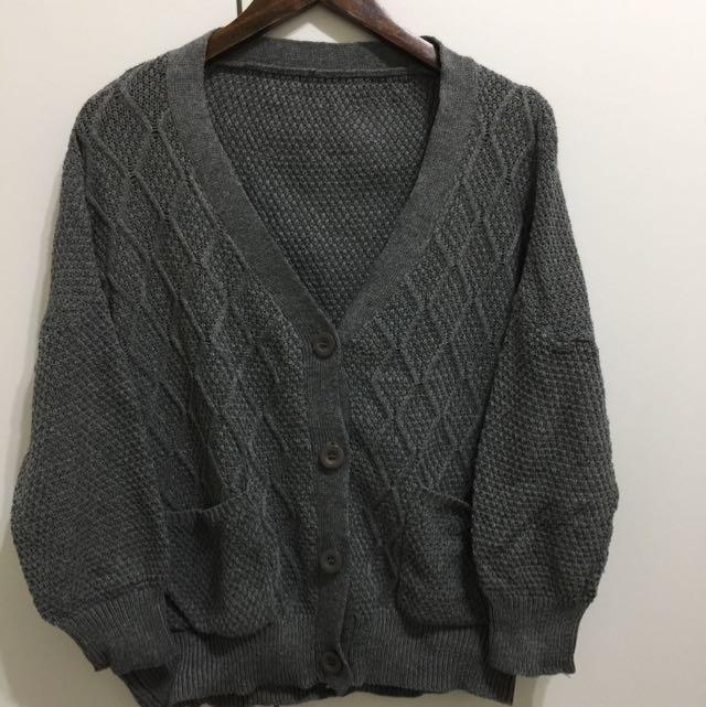 灰色 針織外套 百搭 二手