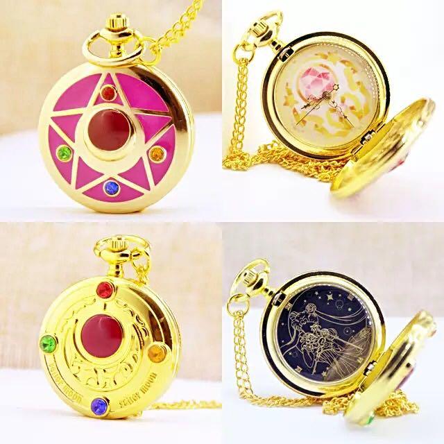 美少女戰士 復古懷錶 美少女懷錶 手錶 情人節禮物 閨蜜 交換禮物 送禮 女錶 動漫