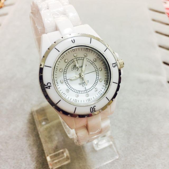 小香經典同款 陶瓷錶 非 香奈兒陶瓷錶 鑽錶 香奈兒 白色 手錶 學生 上班族 韓妞