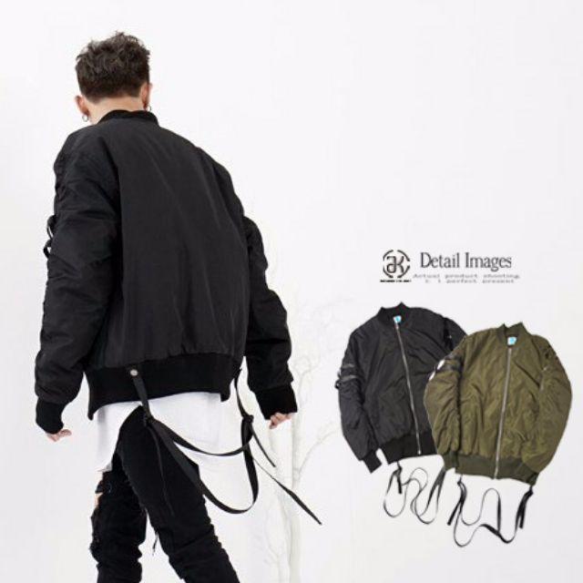 加厚 緞帶 彎刀袖 特殊款MA-1 超保暖 風衣外套 飛行外套 內鋪棉 秋冬款