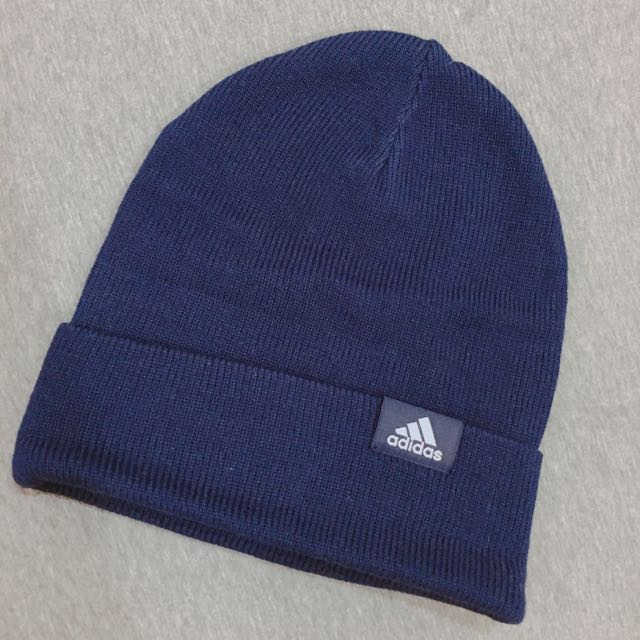 adidas 針織毛帽/深藍
