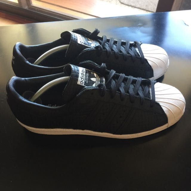 Adidas Superstar Woven Black Mens Size US10