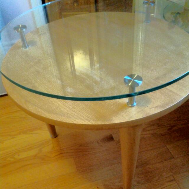 Beautiful Two Glass Table Set