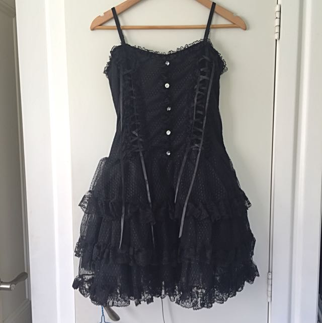 Black Lolita/Gothic Style Lace Dress
