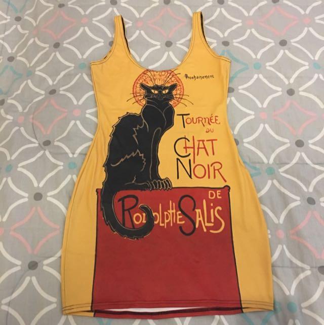 Black Milk Clothing Le Chat Noir Bodycon