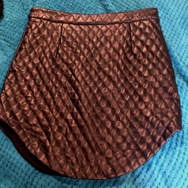 Black Pleather Pencil Skirt