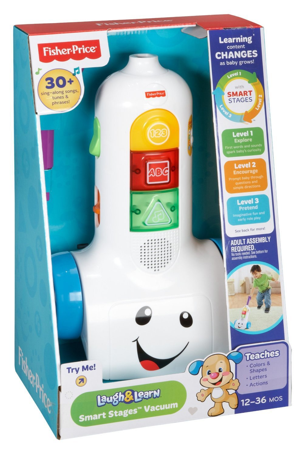 Bnib Fisher Price Laugh Learn Smart Stages Vacuum Babies Kids Phone Toys Walkers On Carousell
