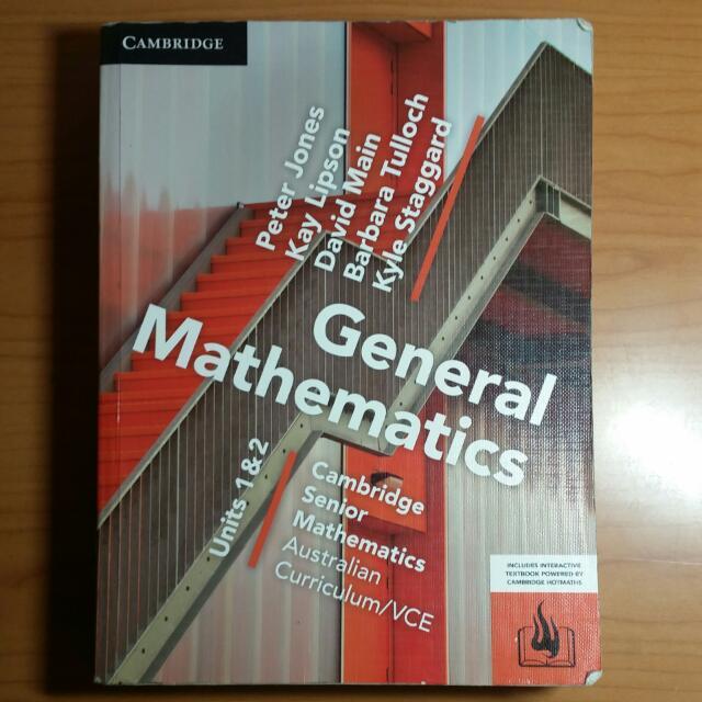 CAMBRIDGE General Mathematics UNITS 1&2 VCE