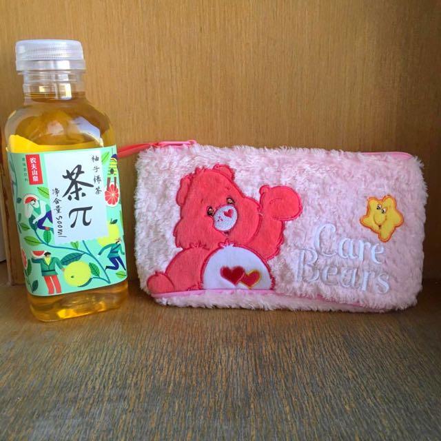 徵✨Care Bears 粉紅色 鉛筆盒 化妝包