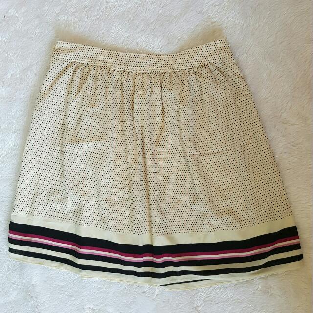 Chiffon Polka Dots Beige Skirt
