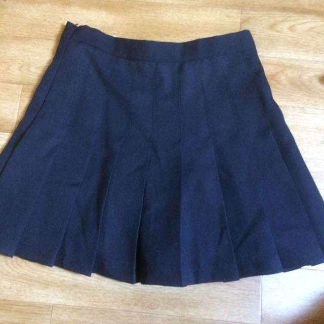 Dark Blue Pleated Tennis Skirt