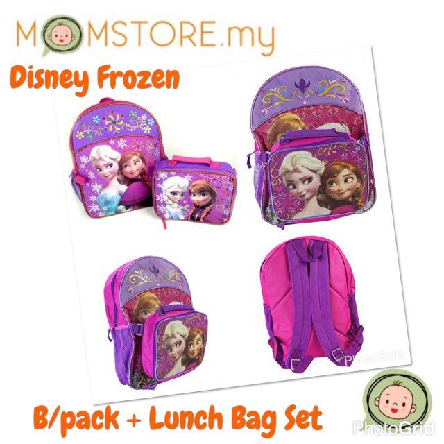 30ff28a28b2 Disney Frozen Backpack   Lunch Bag Set (Purple Pink)