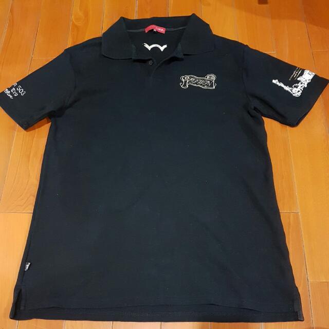 EDWIN 黑色polo衫