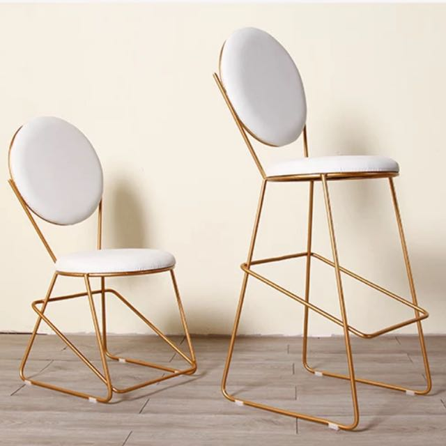 European Chic Bar Office Dining Vanity High Chair