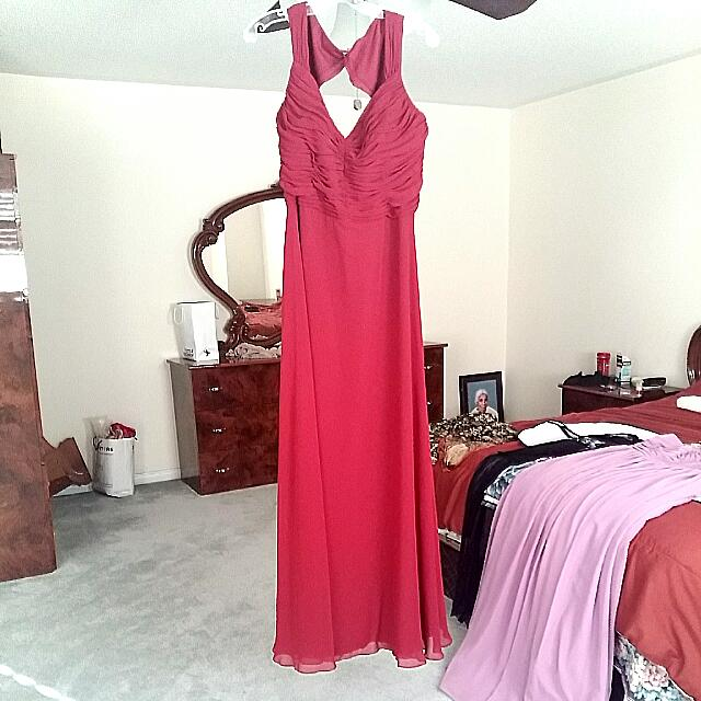Evening Gown - Dark Red/maroon
