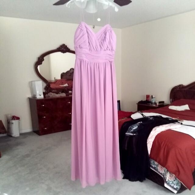 Evening Long Gown- Lavander Colour