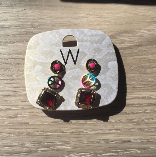 Fashion Earrings Studs Set