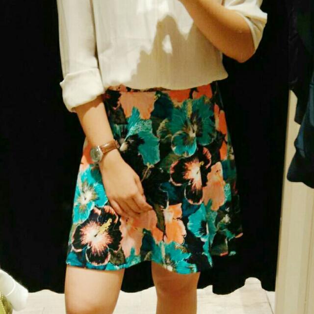 Floral Skirt (H&M)