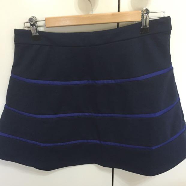 Forever 21 - Striped Skater Skirt - M