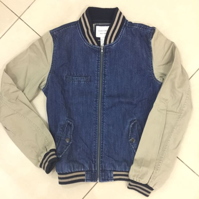 Repriced! Forever 21 Bomber Premium Denim Jacket