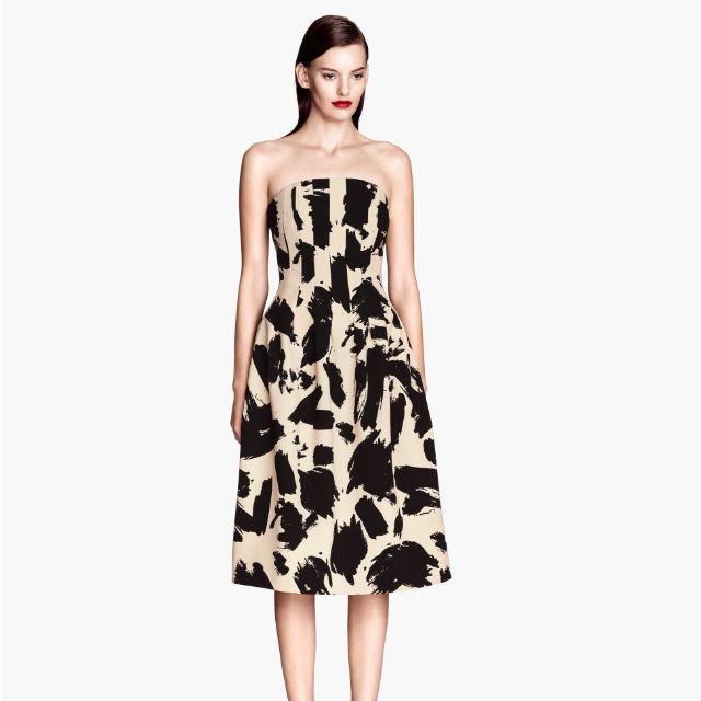 HnM Strapless Printed Cocktail Dress