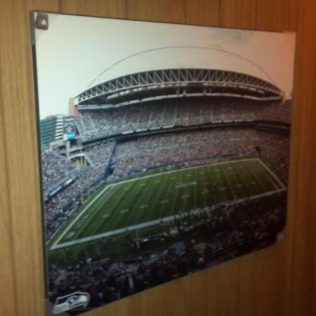 Huge wood style SEAHAWK POSTER