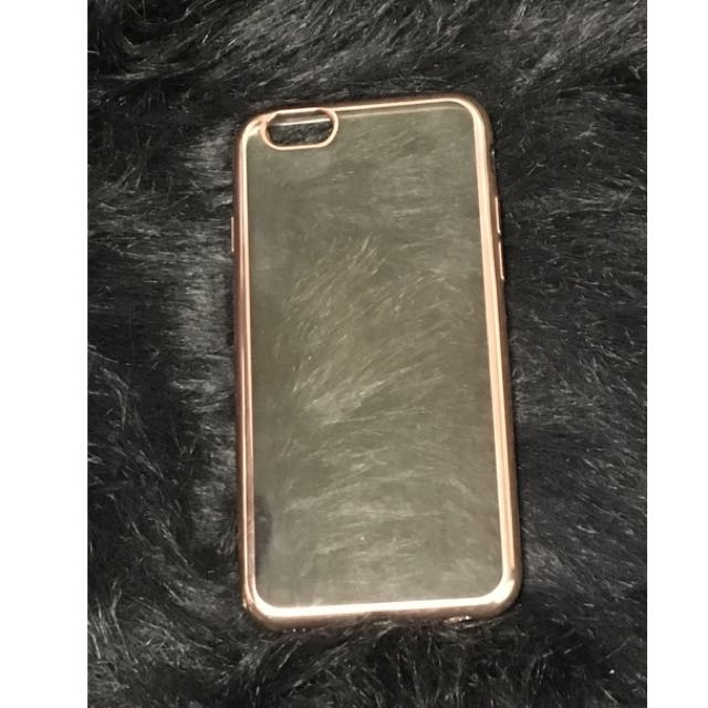 iPhone 6 Clear Rose Gold Case