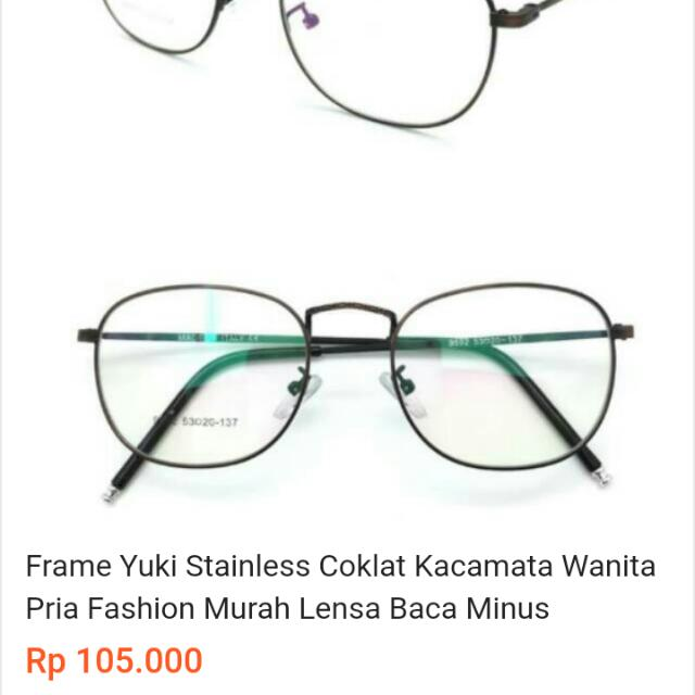 Kacamata Frame Korea 0bd5a1bc1a