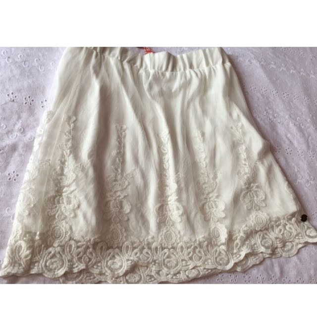 Lee Cooper White Lace Skirt