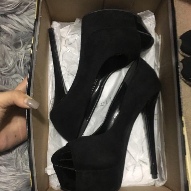 Marco Gianni Black Slim Heels