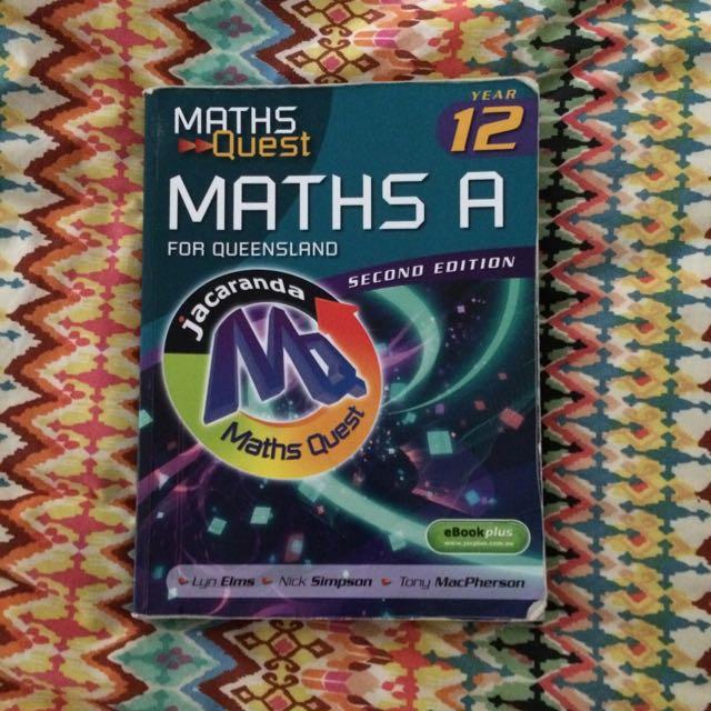 Maths A Jacaranda Second Edition