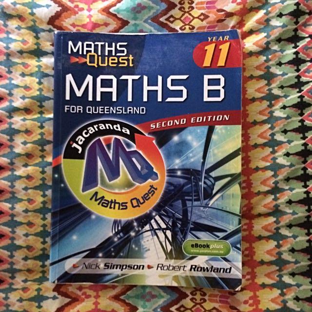 Maths B Jacaranda Second Edition