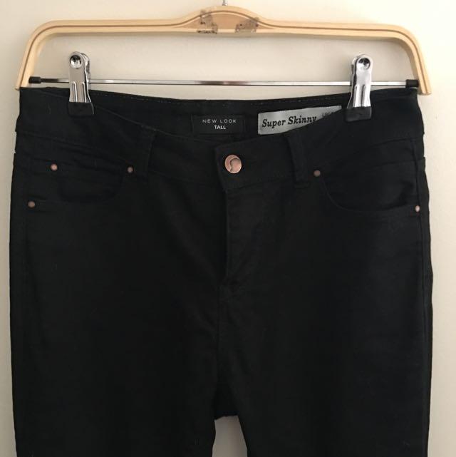 New Look - Black Super skinny Jeans Size U.K. 10