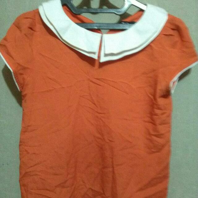 Orange Collar Blouse