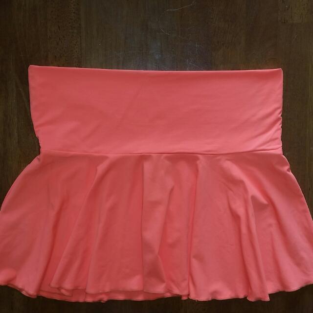Orange Mini Swim/Dance skirt, size small