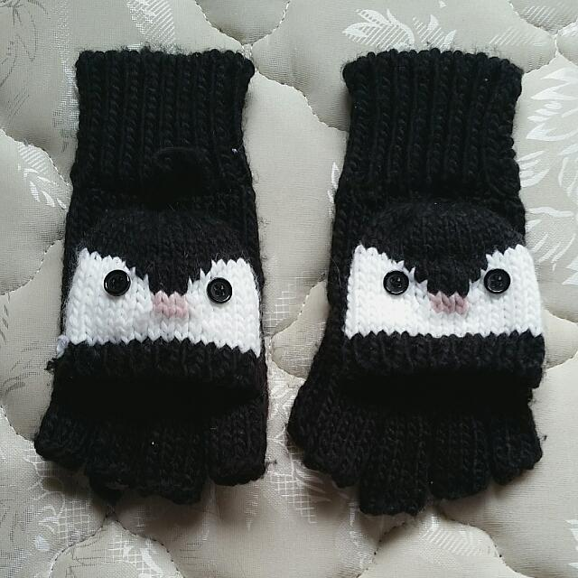 Penguin Convertible Gloves
