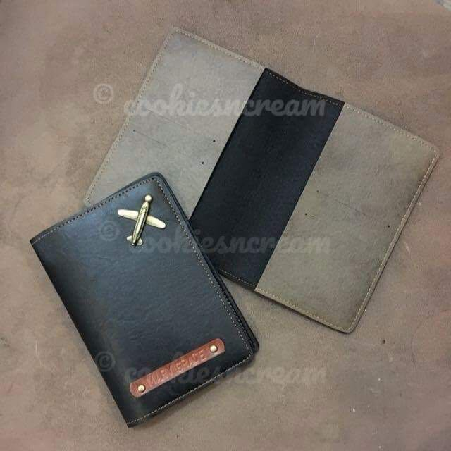 Personalized Leather Passport Holder