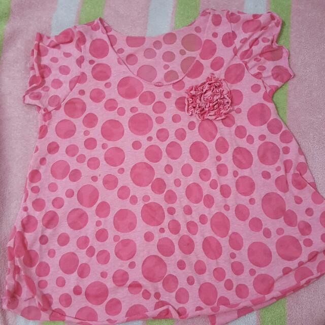 Pink Polka Dotted Shirt
