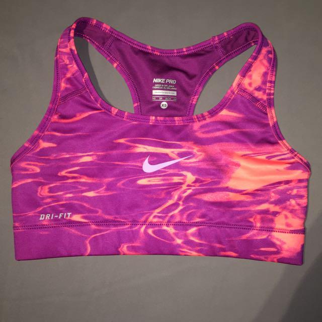 Pink/peach Nike Sports Bra Xs