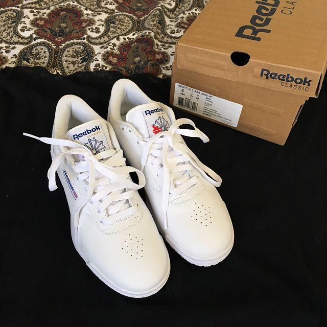 Reebok Ex-O-Fit Leather Sneakers In White AR3169