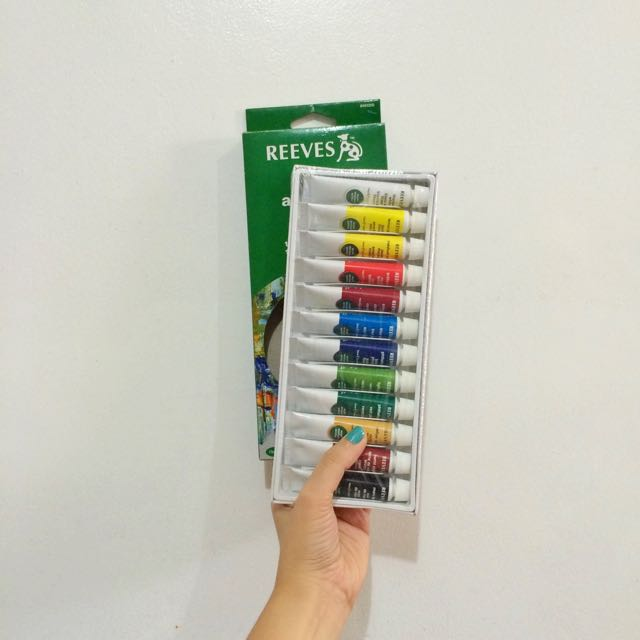 Reeves Acrylics 12 Tubes x 10ml