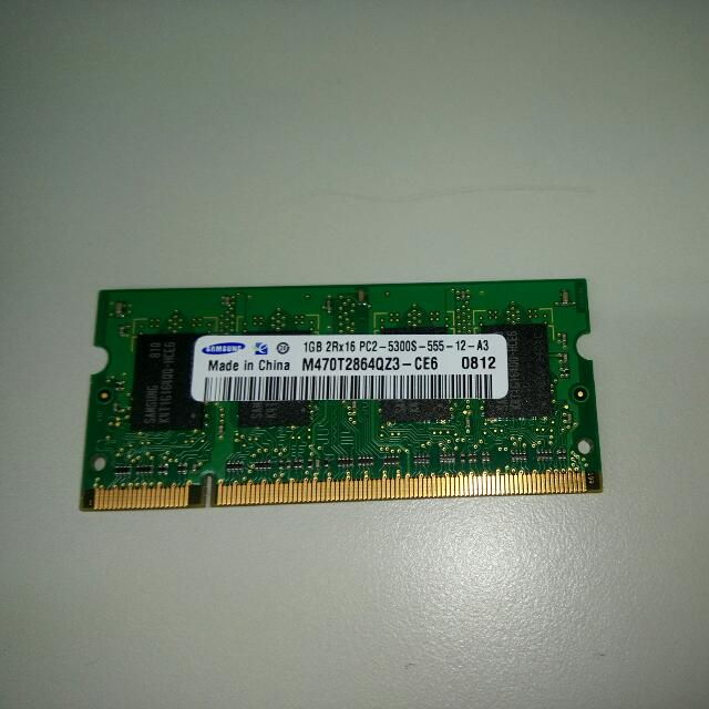 Samsung DDR2 667 SODIMM,筆電用