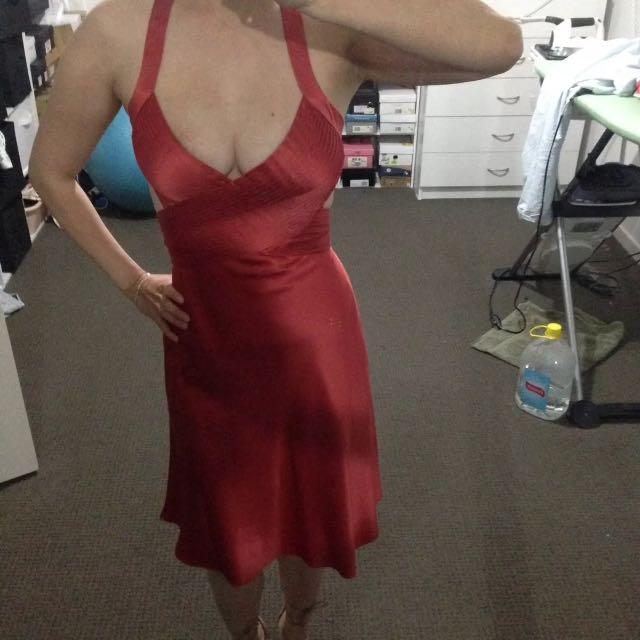 Silk Backless Dress Size 6