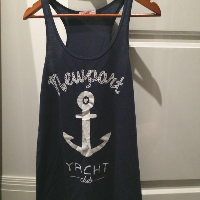 Supre xxs Navy Yacht Club Tank